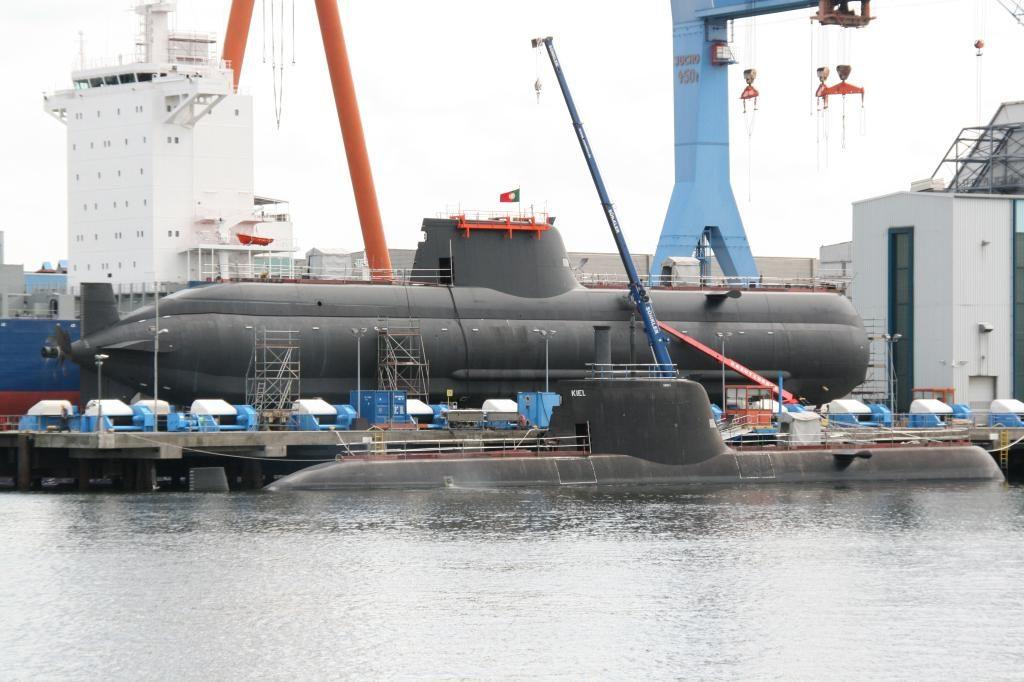 Submarino portugués de la clase Tridente (U-209PN). Foto - HDW