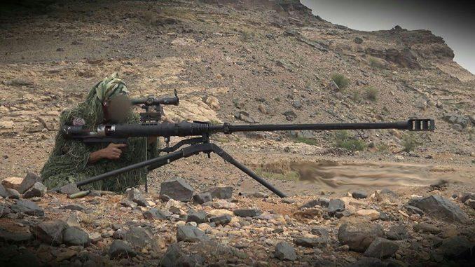 Los francotiradores hutíes han demostrado eficacia incluso usando rifles antimaterial caseros como este