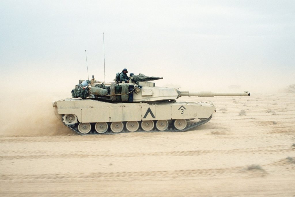 M1A1 en el desierto irakí en febrero de 1991