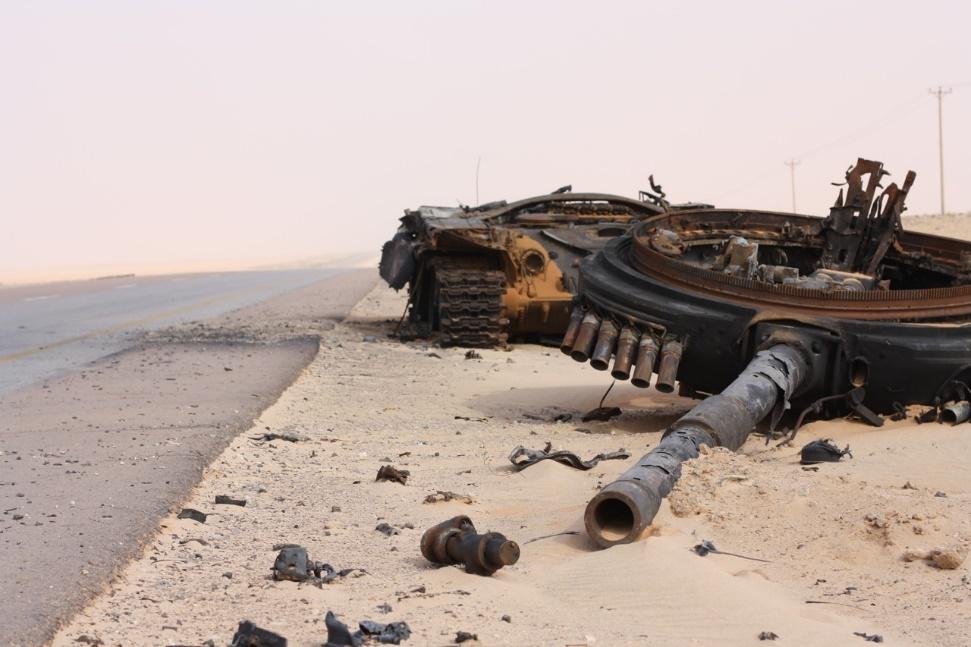 Los misiles C/C TOW dieron buena cuenta de los carros rusos T-72