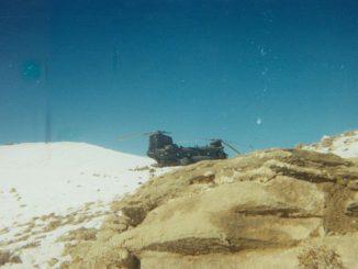 Imagen del Chinook abatido durante la Operación Anaconda