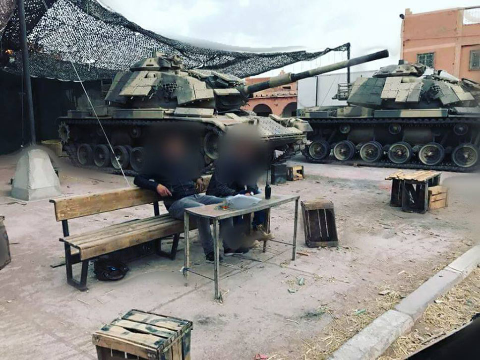 M-60 Patton con los módulos de blindaje reactivo RISE
