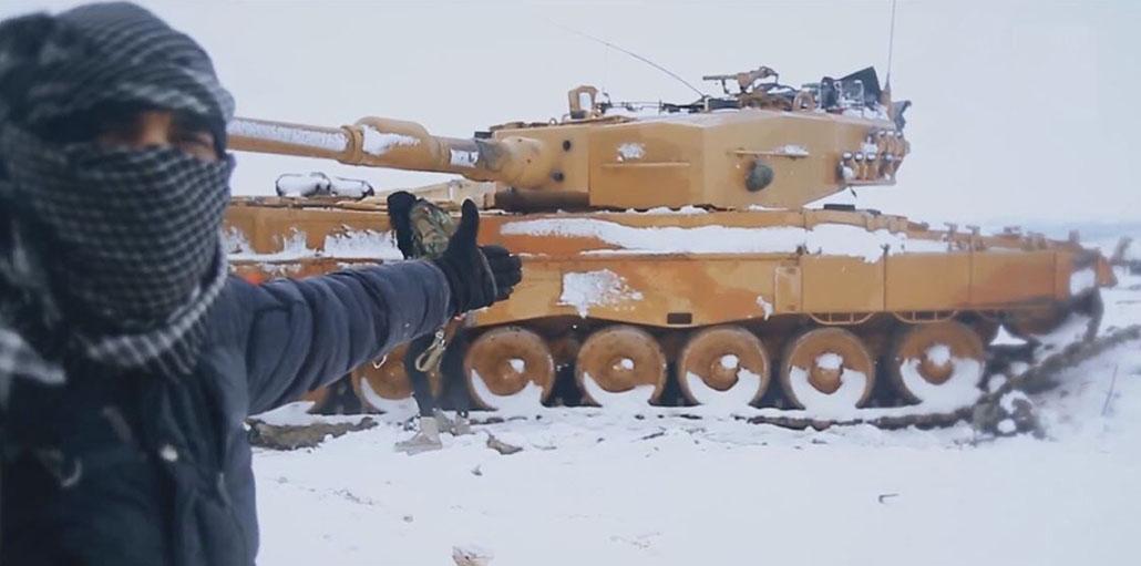 Leopardos sobre la nieve siria