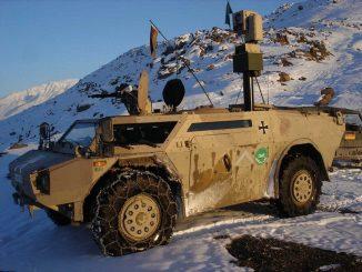 Blindado de reconocimiento Fennek alemán en Afganistán