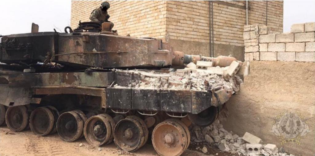 Leopard 2A4TR turco en dañado en Siria