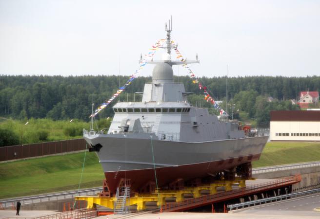 """Corbeta del Proyecto 22800 / Clase Karakurt """"Uragan"""" de la Armada Rusa"""