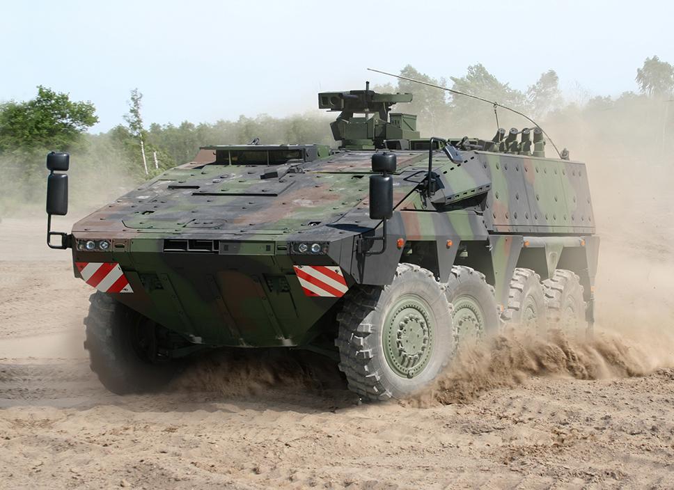 """El """"Boxer"""" es actualmente, el único blindado 8x8 totalmente modular, con módulos básicos y de misión, sustituibles en muy poco tiempo"""