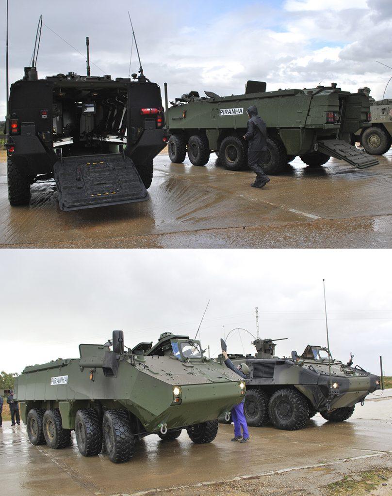 """GD-SBS sistemas presentó dos vehículos, el """"Piraña III"""" que no cumplía los requisitos técnicos, y el """"Piraña V"""" (realmente era un """"IV Evo"""" con pequeñas modificaciones) que todavía no estaba en servicio, por lo que tampoco cumplía lo especificado en el pliego."""