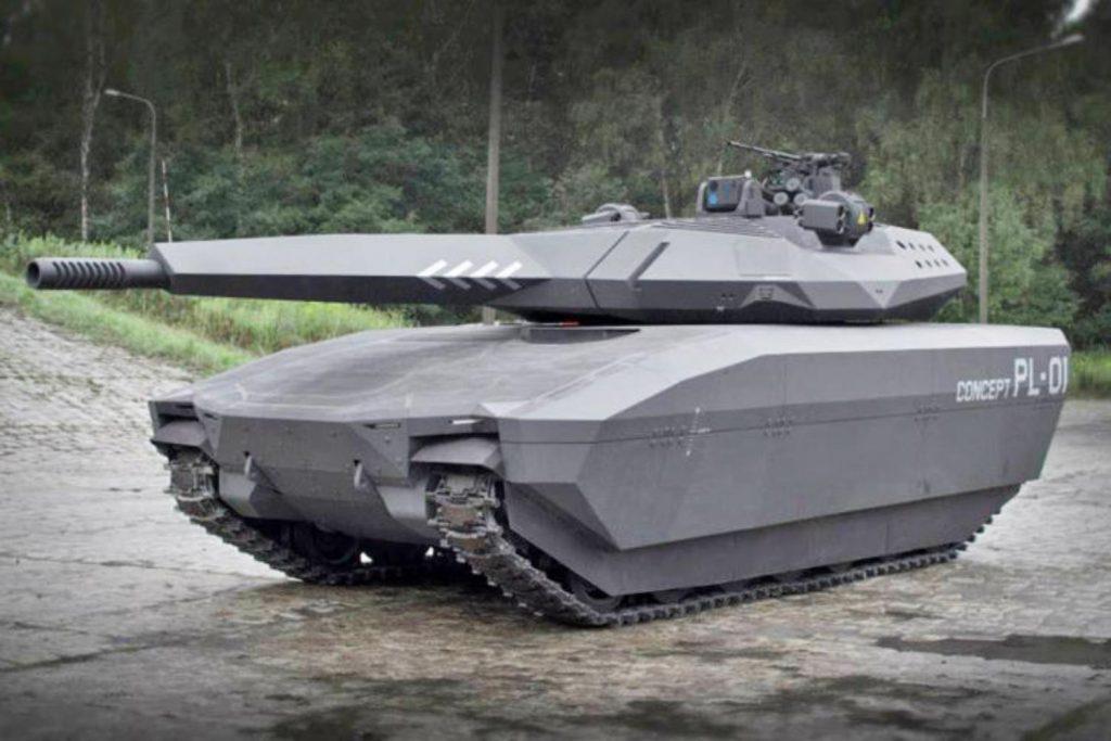 """Prototipo de carro ligero polaco """"PL01, que también incorpora la nueva tecnología """"Adaptiv"""""""
