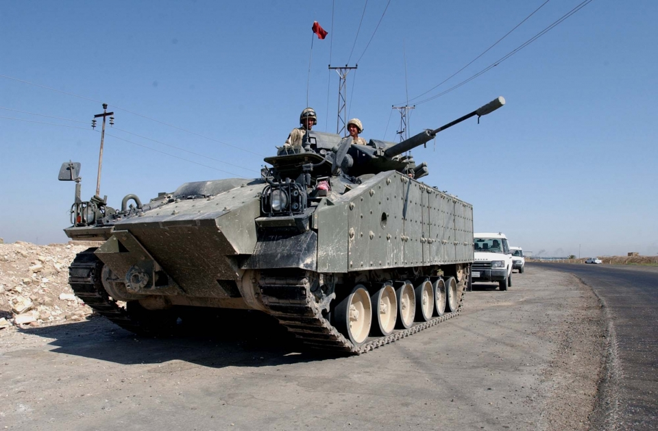 IFV Warrior británico en los alrededores de Al Amarah