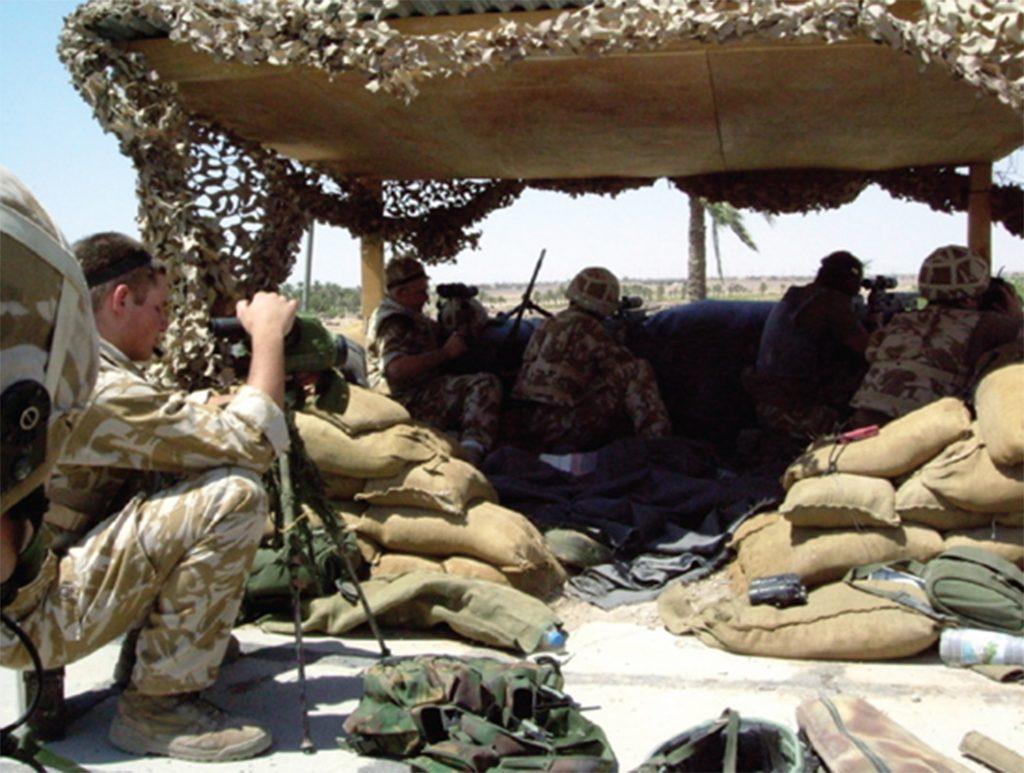 Los Royal Marines supieron batirse el cobre durante los combates