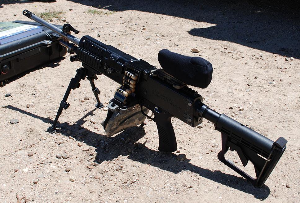 Prototipo de ametralladora ligera con munición telescópica. Foto - US DoD