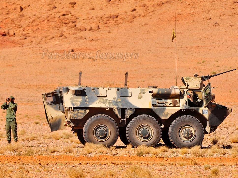 VBL portapersonal marroquí con una ametralladora .50