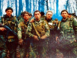 Paracaidistas rusos en Chechenia