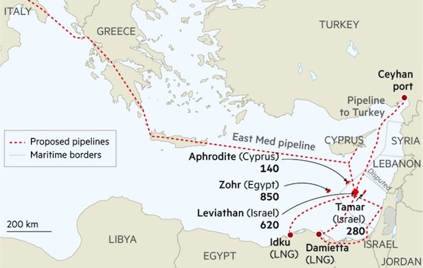 FT: Geopolitics cloud prospects for East Mediterranean gas finds | Energy  Egypt