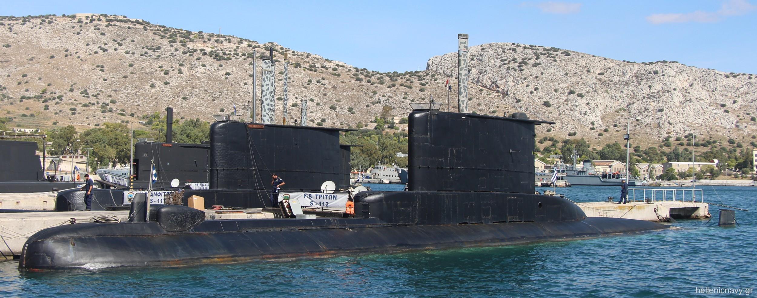 glaukos class type 209-100 submarine hellenic navy greece nereus triton proteus